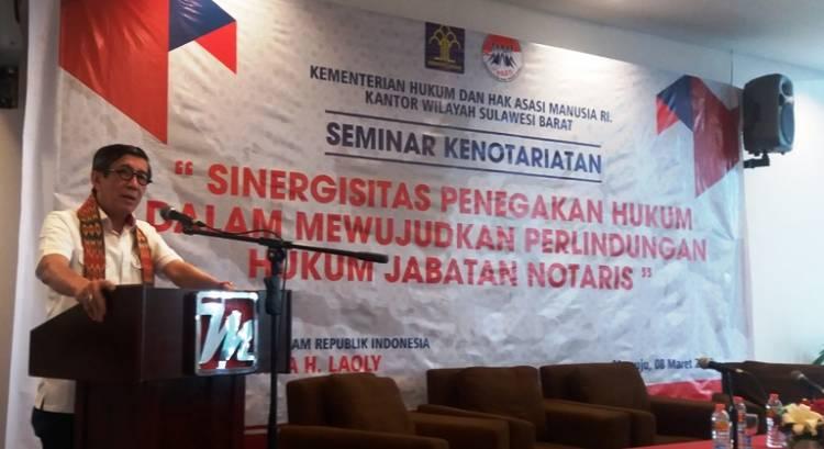 Menteri Yasonna Buka Seminar Perlindungan Terhadap Notaris